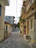 Piccolo vicolo greco Fotografia Stock