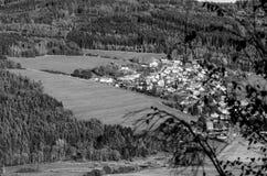 Piccolo villaggio ceco immagini stock