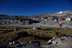 Piccolo villaggio cileno Fotografia Stock