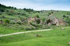 Piccolo villaggio dei periodi romani, Italia fotografie stock