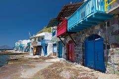 Piccolo villaggio dei pescatori in Grecia Immagine Stock Libera da Diritti