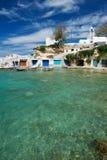 Piccolo villaggio dei pescatori in Grecia Immagini Stock