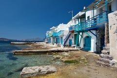 Piccolo villaggio del pescatore in Grecia Fotografia Stock Libera da Diritti