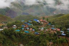 Piccolo villaggio della Tailandia Fotografia Stock Libera da Diritti