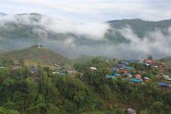 Piccolo villaggio della Tailandia Immagine Stock Libera da Diritti