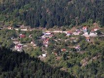 Piccolo villaggio greco Immagini Stock Libere da Diritti