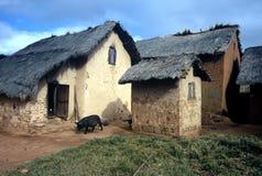 Piccolo villaggio, Madagascar Fotografia Stock Libera da Diritti
