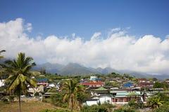 Piccolo villaggio in montagne Immagine Stock Libera da Diritti