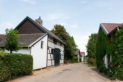 Piccolo villaggio olandese fotografia stock