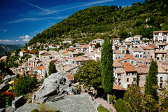 Piccolo villaggio Peille, Cote d'Azur Fotografia Stock