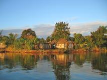 Piccolo villaggio piacevole del pescatore Fotografia Stock Libera da Diritti