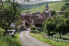 Piccolo villaggio rurale Fotografie Stock