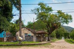 Piccolo villaggio storico nel Brasile immagini stock