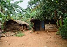 Piccolo villaggio su un'isola nel lago Vittoria immagine stock