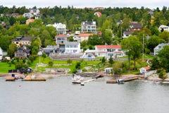Piccolo villaggio svedese Fotografia Stock