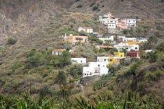 Piccolo villaggio tipico sull'isola di Gomera, Spagna Fotografia Stock Libera da Diritti