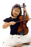 Piccolo violinista Immagine Stock Libera da Diritti