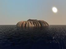 Piccolo vulcano in mare Immagini Stock Libere da Diritti