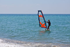 Piccolo windsurfer Fotografia Stock