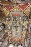 Piccolomini图书馆天花板在锡耶纳Cathedral Duomo di Sien 库存图片