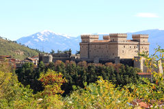 Piccolomini Castle in Celano, Italy Stock Photo