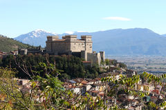 Piccolomini Castle, Celano, Italy Royalty Free Stock Images