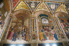 Piccolomini Library in Siena Cathedral Stock Photography