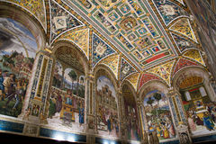 Piccolomini Library in Siena Cathedral Stock Photos