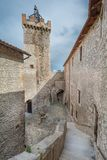 Piccolomini slott, Capestrano, L `-Aquila landskap, Abruzzo Italien Arkivbilder