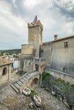 Piccolomini slott, Capestrano, L `-Aquila landskap, Abruzzo Italien Royaltyfri Fotografi