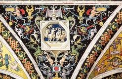 Piccolominibibliotheek, Siena, Toscanië, Italië Stock Foto