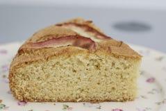 Pice του κέικ στο παλαιό πιάτο μόδας Στοκ φωτογραφία με δικαίωμα ελεύθερης χρήσης