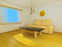 Pièce avec le sofa Images libres de droits