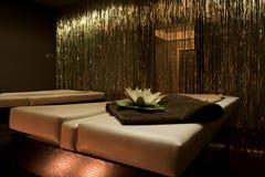 Pièce de massage dans la STATION THERMALE Photos libres de droits