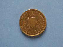 pièce de monnaie de 50 cents, Union européenne, Pays-Bas Photos libres de droits