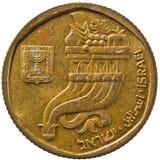 Pièce de monnaie de l'Israël Photographie stock libre de droits