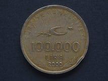 Pièce de monnaie de Lire turque Photographie stock