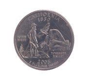 Pièce de monnaie de quart de dollar des Etats-Unis la Californie Photographie stock