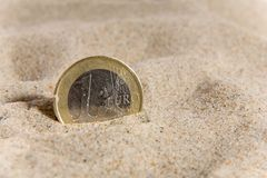Pièce de monnaie et crise financière Photos stock