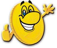 pièce de monnaie heureuse Image libre de droits