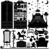 Pièce à la maison de conception intérieure de chambre à coucher Image stock