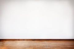 Pièce vide avec le parquet en bois Image libre de droits