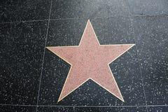 Pièce vide blanc de forme de star de Hollywood pour le texte Photographie stock