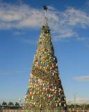 Picea del ` s del Año Nuevo en Baywalk de la ciudad de Puerto Princesa Isla de Palawan Imagenes de archivo