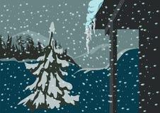 Picea y nieve Foto de archivo libre de regalías