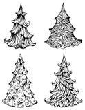 Piceas aisladas en el fondo blanco libre illustration
