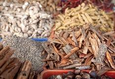 Épices au marché Photographie stock libre de droits