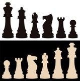 pièces d'échecs de vecteur Photographie stock libre de droits
