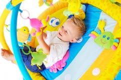 Pièces de chéri avec des jouets Image stock