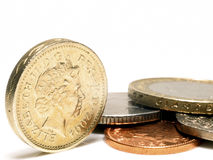 Pièces de monnaie BRITANNIQUES Photos stock
